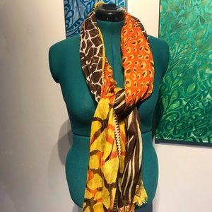 Accessories - African print lightweight long scarf